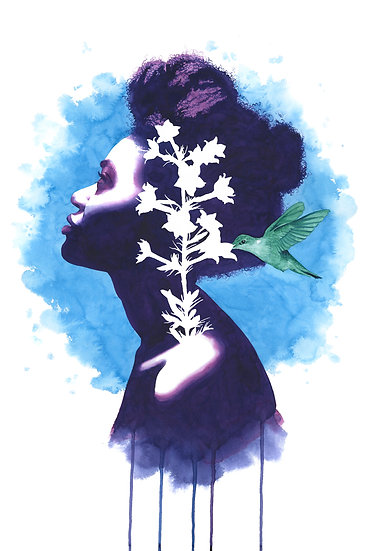 Blooming Standing Cypress print