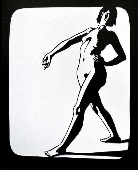 Posture Babe - Cut Paper Original