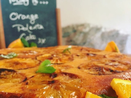 Gluten free orange & polenta cake