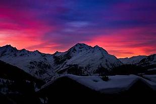 Sainte Foy Ski Holiday Sunsets whiteroomchalet