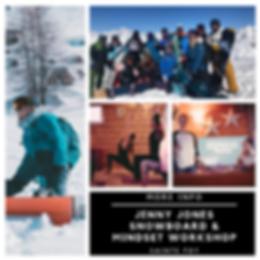 Snowboard and Mindset Workshop Jenny Jon