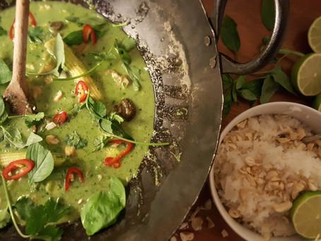 Thai green curry recipe.