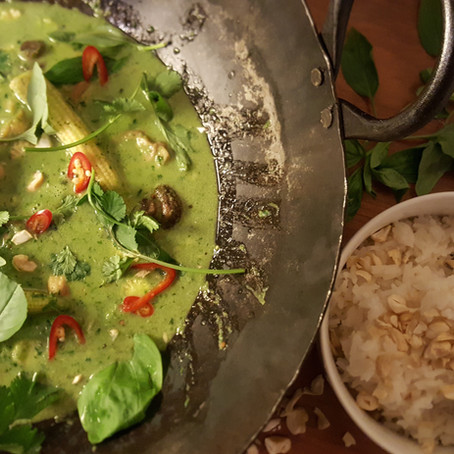 Thai green curry recipe.