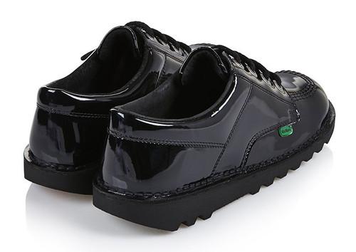 8f548848 Kickers Classic Kick Lo Junior Patent Black