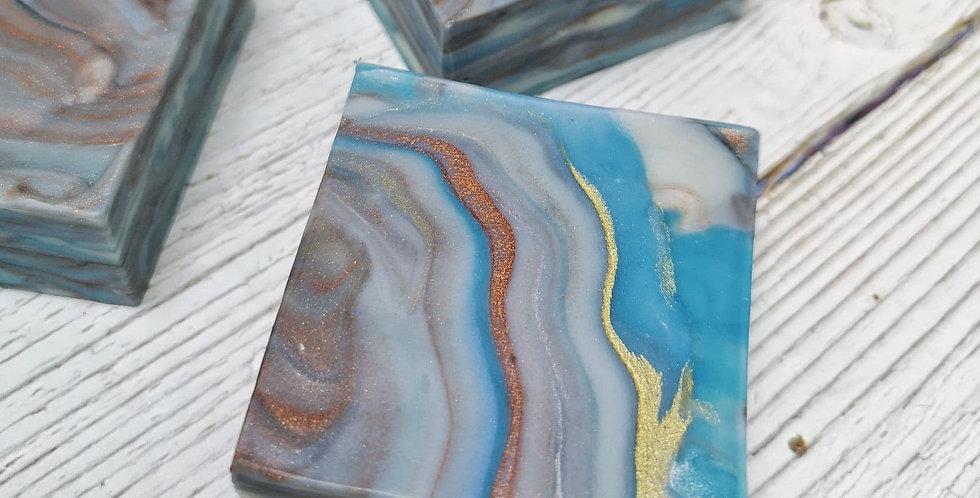胡桃油保濕皂(岩石紋正方形) - 80g