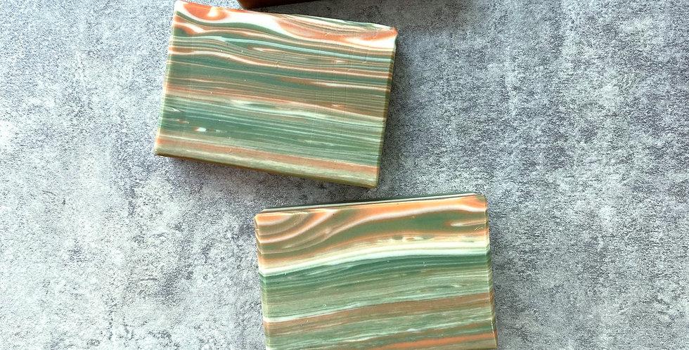 橄欖甜杏修護皂(橙色木紋) - 80g,85g,95g,105g