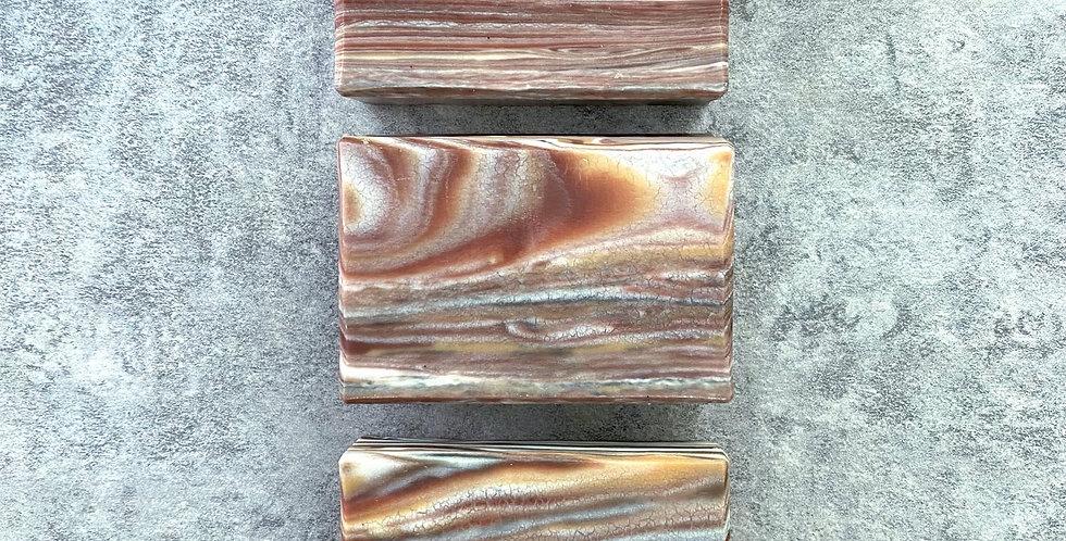 橄欖甜杏修護皂(啡色木紋) - 75g,95g,105g