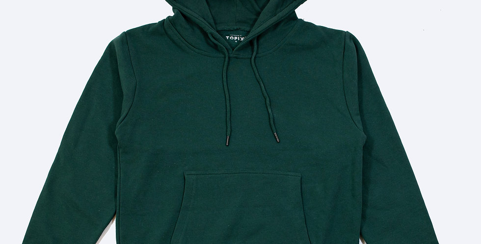 Regular  純棉連帽衛衣 深綠色┃TPX-0031-CHQ-GN6