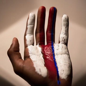 Painted Hand for technicolor tears cover