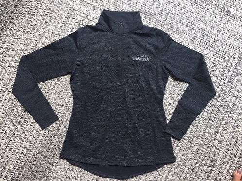 Women's Black Reflective Long Sleeve pullover