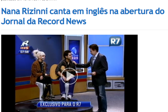 TV RECORD NEWS 2011