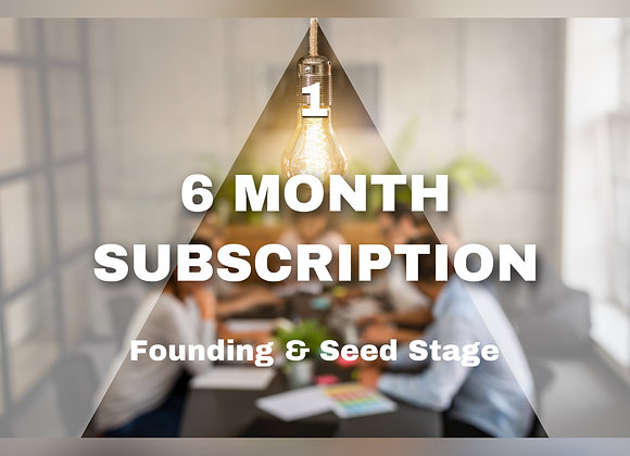 6 MONTH SUBSCRIPTION Founding & Seed Stage