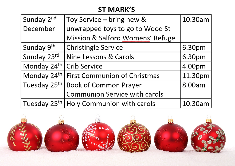 St Mark's Advent & Christmas Services 2018