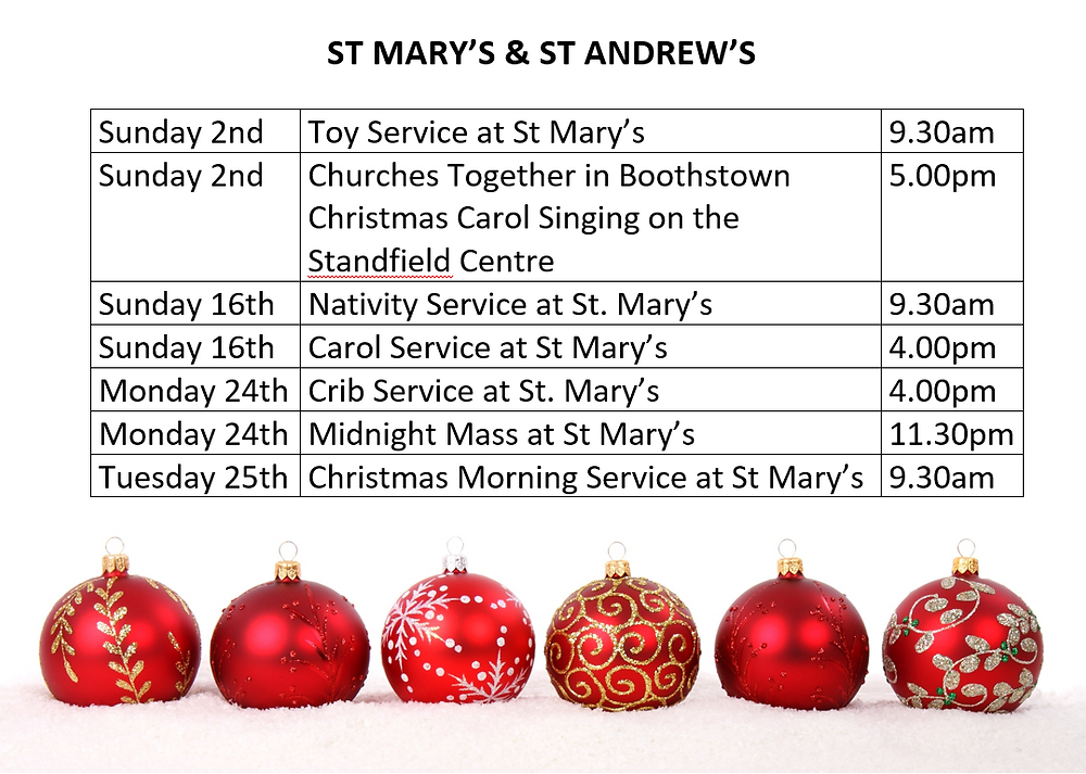 St Mary's and St Andrew's Advent & Christmas Services 2018