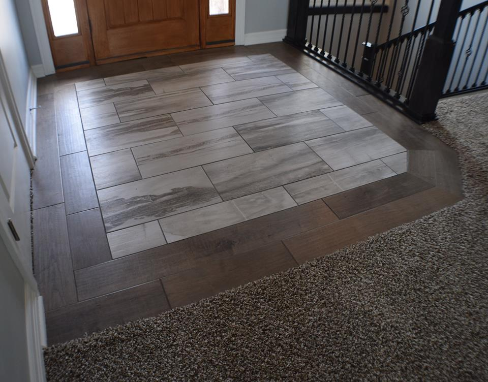 Entry way flooring