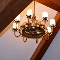 Living room Chandelier with fan