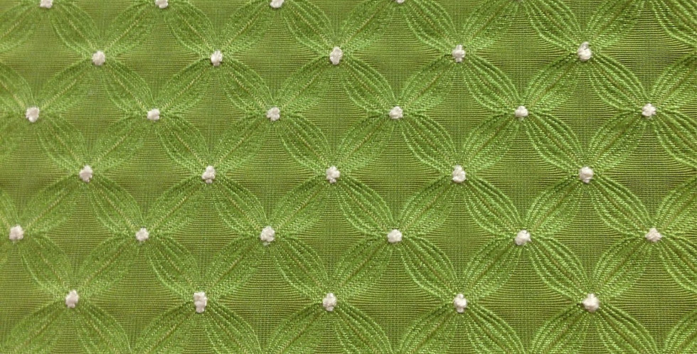 Green Connect the Dots Fabric