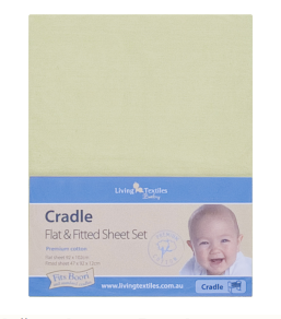 living textiles 2 piece bassinet sheet set