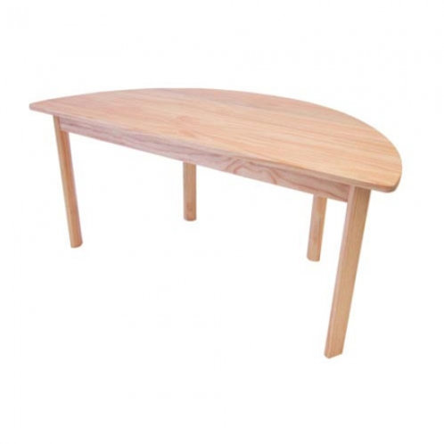 Wooden Semi Circle Table Top (120cm)