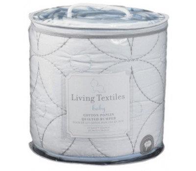 living textiles 4 pc cotton poplin quilted bumper