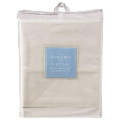 living textiles 2 piece cradle sheet set