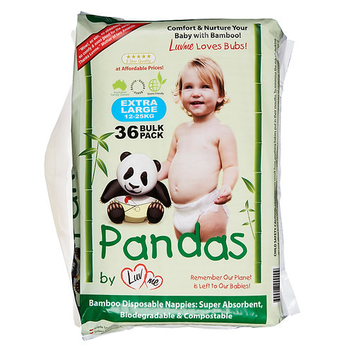 Eco Bamboo Disposable Nappies EXTRA LARGE 12-25kg
