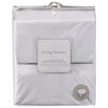 living textiles 2 pack cradle cotton fitted sheet
