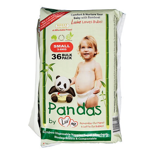 Eco Bamboo Disposable Nappies NEW BORN 3-8kg