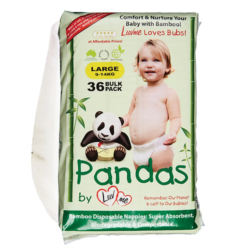 Eco Bamboo Disposable Nappies LARGE 9-14kg