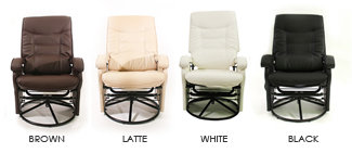 Reclining and gliding chair with matching ottoman