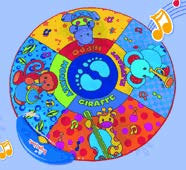 ROUND MUSICAL PLAYMAT FOR JOLLY JUMPER 81cm