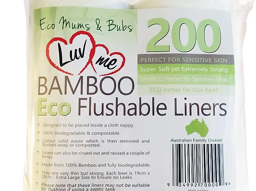 Eco Bamboo Flushable Liners
