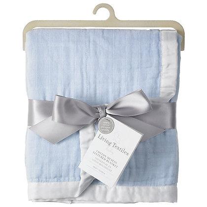 living textiles cotton muslin textured blanket