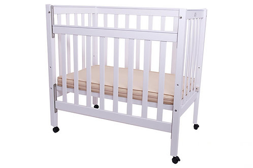 Wooden Compact Cot - White