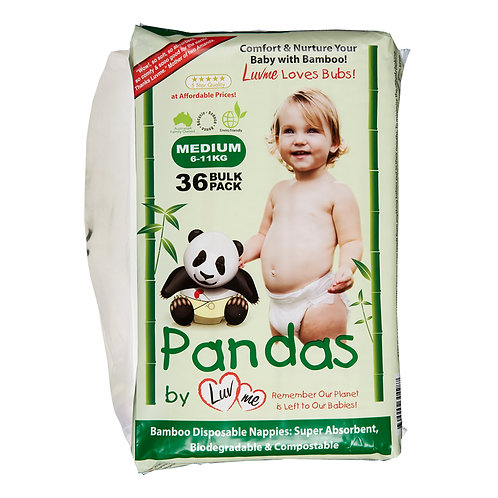 Eco Bamboo Disposable Nappies MEDIUM 6-11kg