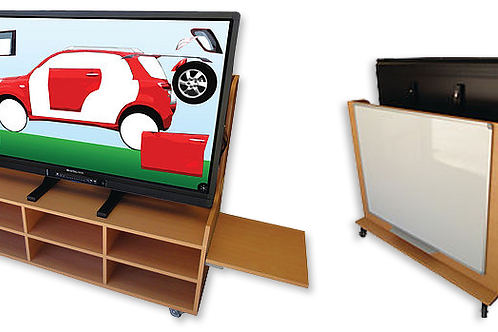 """55"""" Interactive Early Learning Solution With Whiteboard & Kindy Cabinet Trolley"""
