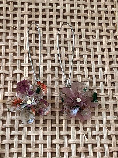 Boucles d'oreilles - Origami - Sakura 024