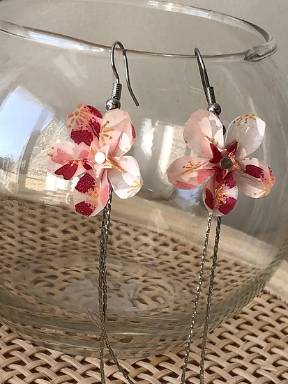 Boucles d'oreilles - Origami - Sakura 020