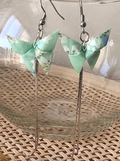 Boucles d'oreilles - Origami - Papillons 018