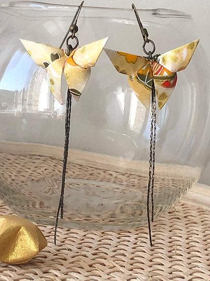 Boucles d'oreilles - Origami - Papillons 015