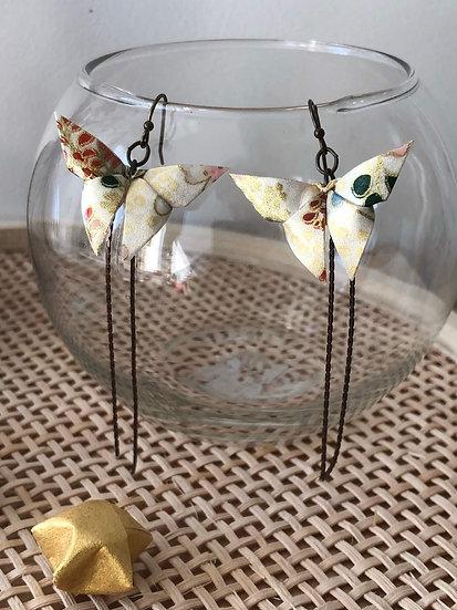 Boucles d'oreilles - Origami - Papillons 011