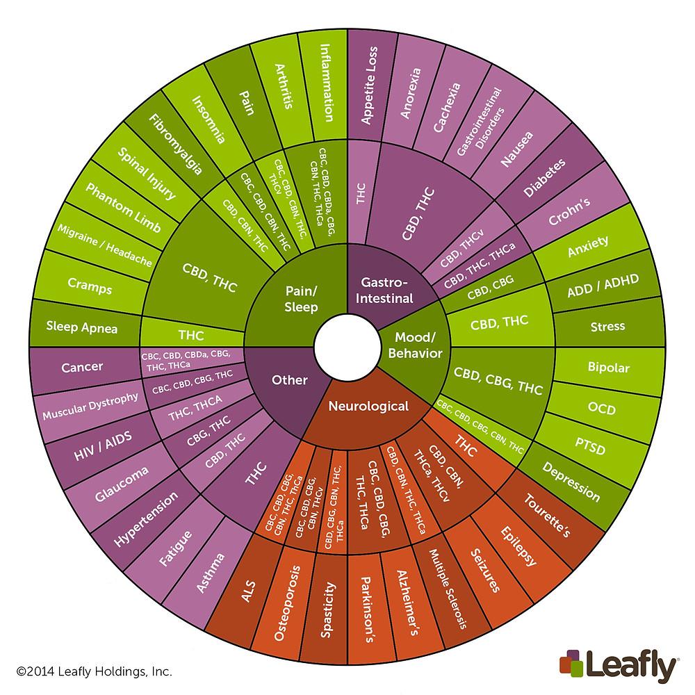 Cannabis THC & CBD Wheel