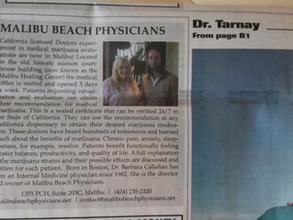 Malibu Times Editorial on Malibu Beach Physicians