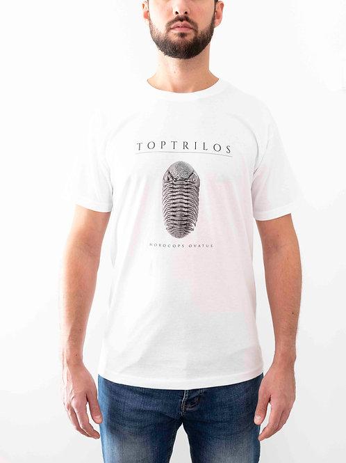 White T-shirt Design Morocops ovatus