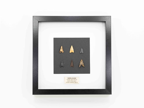 Neolithic arrowheads presented in Frame