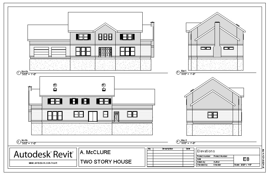 Revit - Two Story House | Union Grove High School Architecture