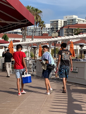 Coronado Beach, and the cooler!