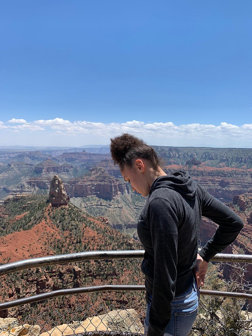 Jasmyn looking all the way down!