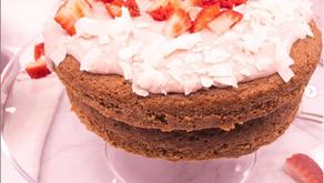 Strawberry Coconut Sponge Cake