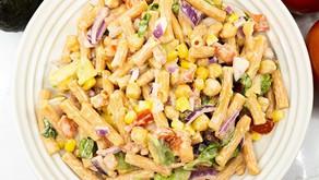 Red Lentil Pasta Salad